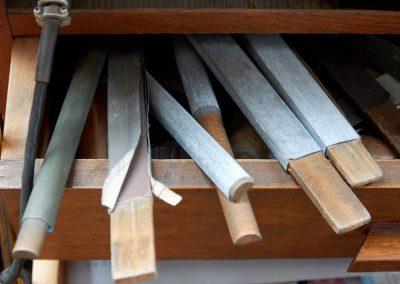 Werkstatt - Schmirgeln und Versäubern
